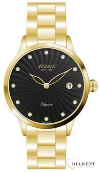 Zegarek damski Atlantic ' Black & Gold ' 29142.45.67MB.jpg