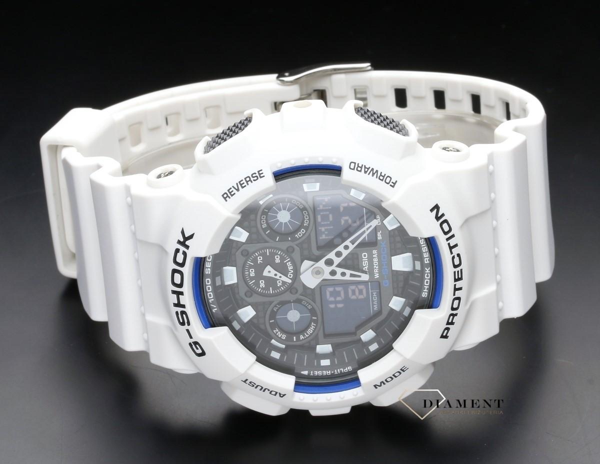 5ef33011ab5047 Zegarek męski wstrząsoodporny CASIO G-Shock GA-100B-7AER - www ...