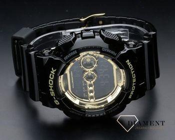 Zegarek męski Casio na czarnym pasku G Shock GD 100GB 1ER