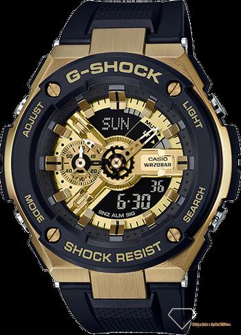 796bb323fc5dba Zegarek męski wstrząsoodporny CASIO G-Shock GST-GST-400G-1A9ER - www ...